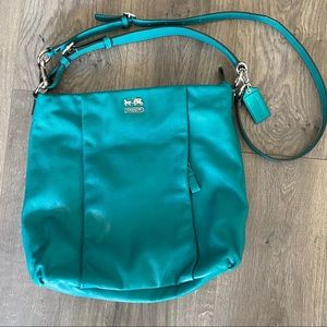 Coach Kelly Green Leather Crossbody Purse